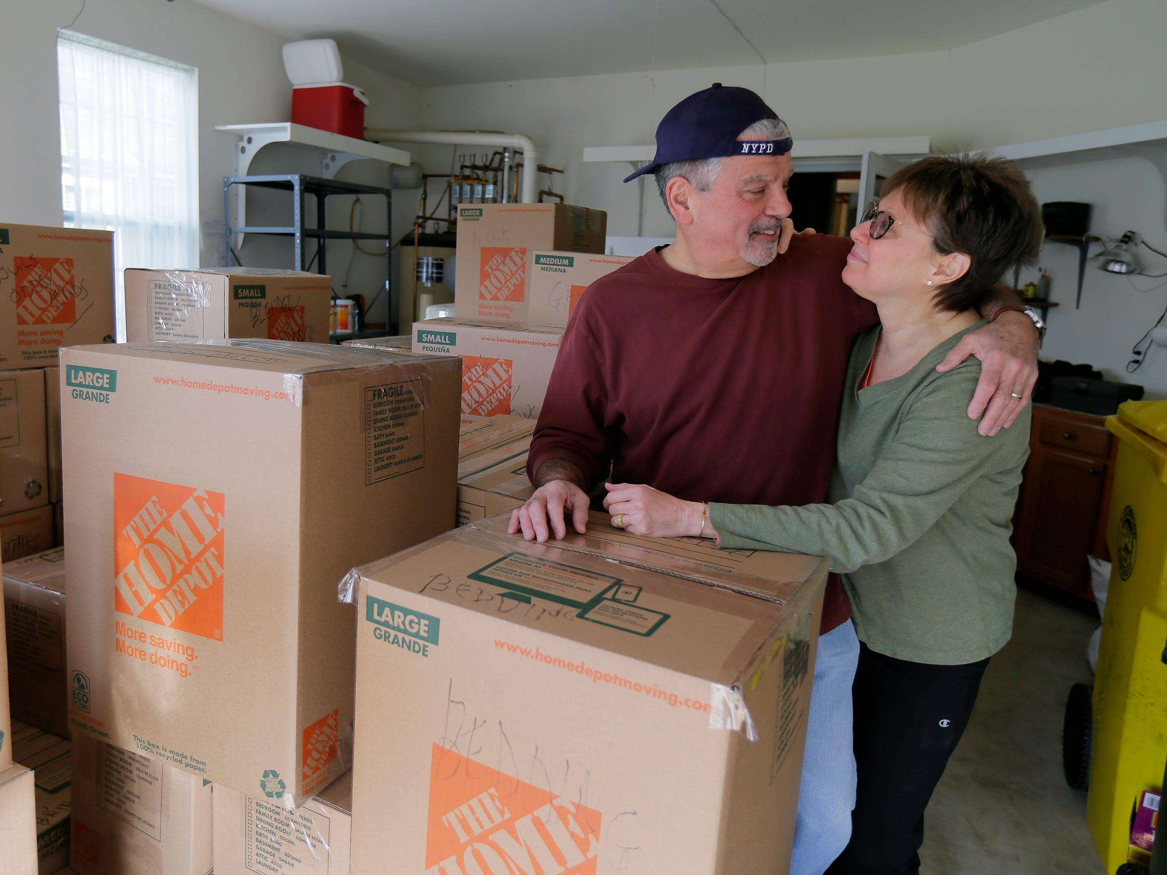 Tom Gatti, the founder of the Senior Action Group in Lakewood and one of the most vocal figures in the opposition to township growth, and his wife, Ellen Gatti, move out of their Lakewood home after 12 years in Lakewood, NJ Monday, March 12, 2018.