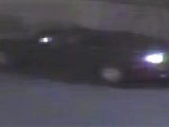 Security camera image of car in burglary of a Metro