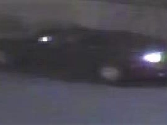Security camera image of car in burglary of a Metro PCS store in the Fox Crossing retail strip.