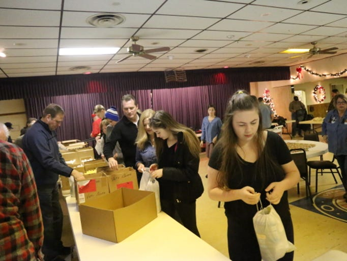 Dozens of volunteers helped with this year's wrapping.