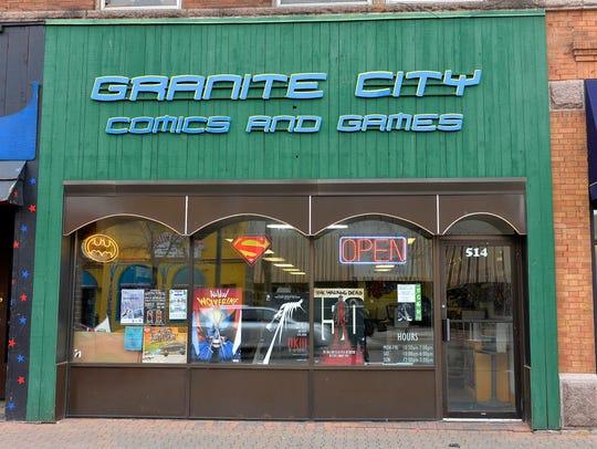 Granite City Comics and Games is at 514 St. Germain