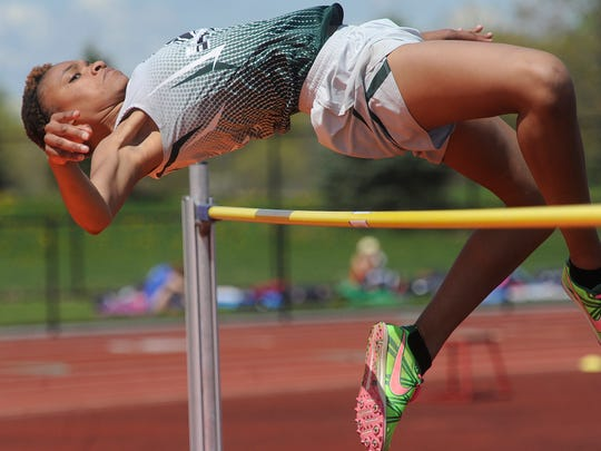 York County School of Technology's Kirstyn Evans finished second in the girls' high jump at the White Rose Invitational last season.
