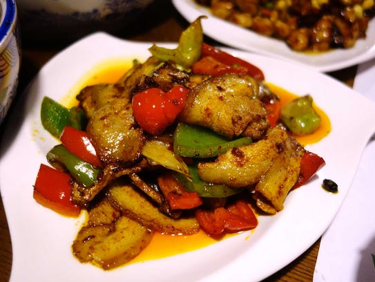 Sichuan style twice cooked pork at Original Cuisine