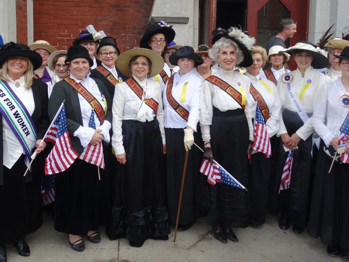 Women portraying delegates to the 1913 New York State