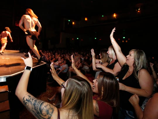 Fans react to the Thunder from Down Under show at the