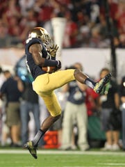 =Notre Dame Fighting Irish wide receiver DaVaris Daniels.