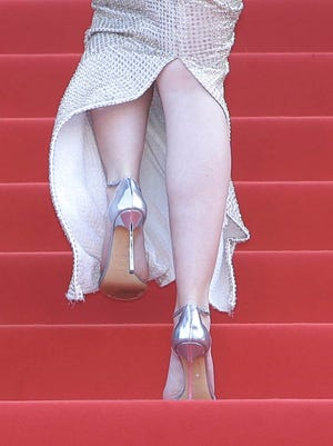 Emily Blunt wore heels for the premiere of her movie 'Sicario' at the 68th Cannes Film Festival.