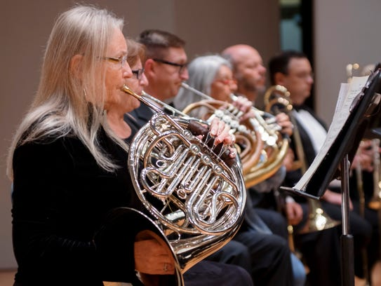 Players in the St. Cloud Symphony Orchestra.
