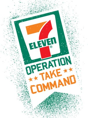 The logo for 7-Eleven's business' competition.