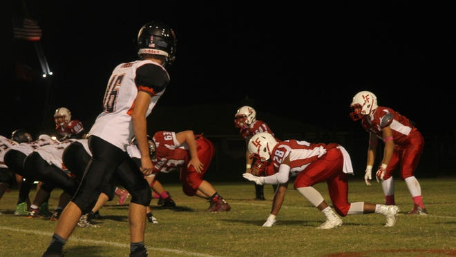 The Loving Falcons lost to the Capitan Tigers 24-19 on Oct. 9.