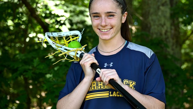 Sophie Scearbo was a Daily News All-Star for both lacrosse and field hockey at Algonquin, and she plays lax now at Merrimack College.