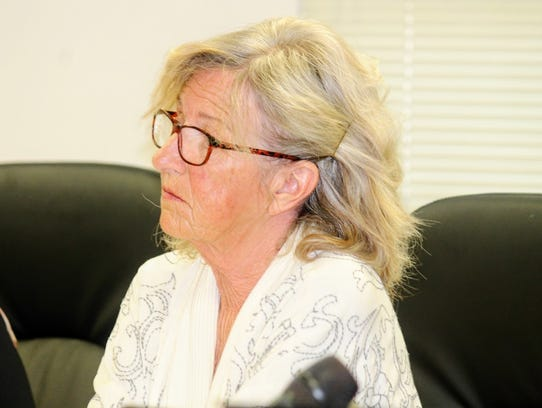 County Commission Chairman Janet White opened up the