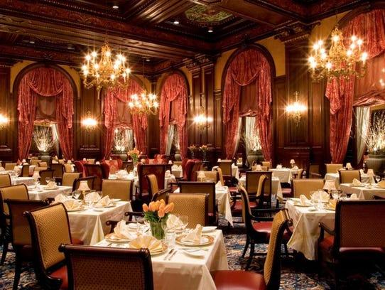 The Hotel du Pont's Green Room is fancy schmancy, but