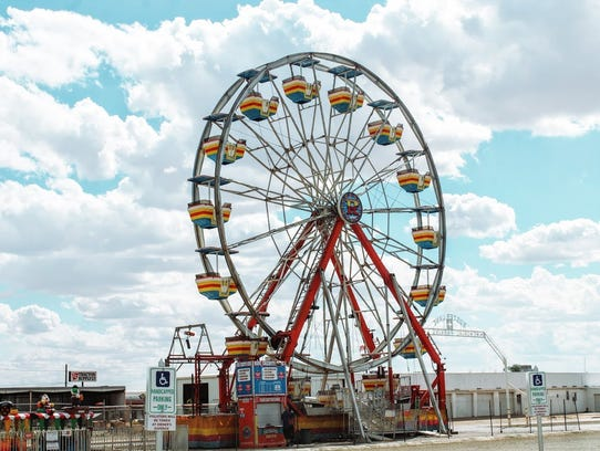 In this 2016 file photo, a new and bigger ferris wheel