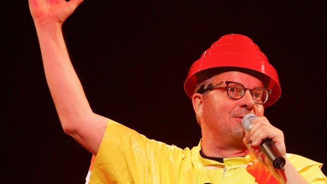Akron native Mark Mothersbaugh performs with Devo at the Akron Civic Theatre on Oct. 17, 2008. Mothersbaugh has survived a serious bout with COVID-19, according to published reports and a Facebook post by his sister.