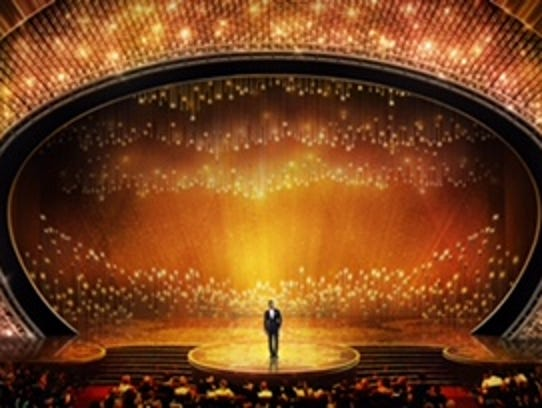 Artist's rendering of the Oscar stage.