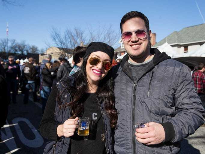 Victoria Reale and Joe Piccininni of Stanton Island, N.Y. at Winterfest in Kennett Square on Saturday afternoon, February 22, 2014.