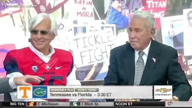 Bob Baffert on ESPN's College GameDay.