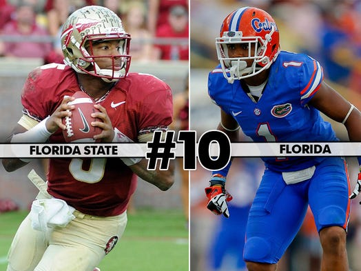 No. 2 Florida State (11-0, 8-0) at Florida (4-7, 3-5), 12 p.m. ET, ESPN: Can Florida claim the ultimate win to finish its miserable season?