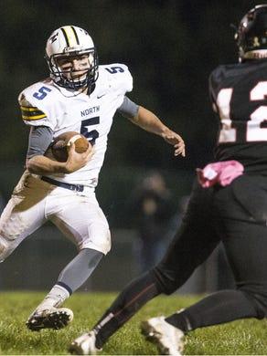 Toms River High School North senior quarterback Mike Husni (No. 5) has been outstanding so far this season.