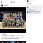 Spc. Terry Harrison of the Wisconsin National Guard was suspended after posting this photo of the regiment's funeral honor guard to Instagram.