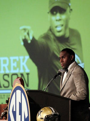 """""""My expectation is to push the envelope a little bit. We have to move past the idea of playing for nine wins,"""" Vanderbilt coach Derek Mason on Monday at SEC Media Days."""