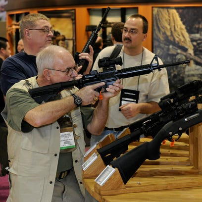 A National Shooting Sports Foundation show at the Sands