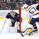 The Predators were shut out for the second time this season Friday in a 4-0 loss to the Blue Jackets.
