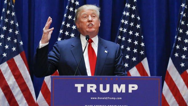 Real estate mogul Donald Trump announces his bid for the presidency June 16.