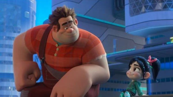 "Ralph and Vanellope' are pals in ""Ralph Breaks..."