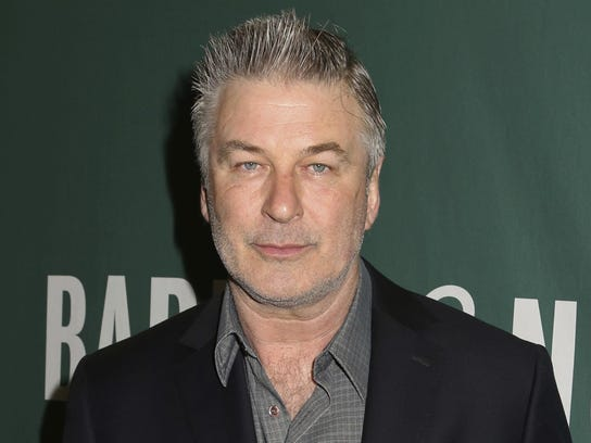 """In this April 4, 2017, file photo, actor Alec Baldwin appears at Barnes & Noble Union Square in New York City to sign copies of his new book, """"Nevertheless: A Memoir"""" in New York."""