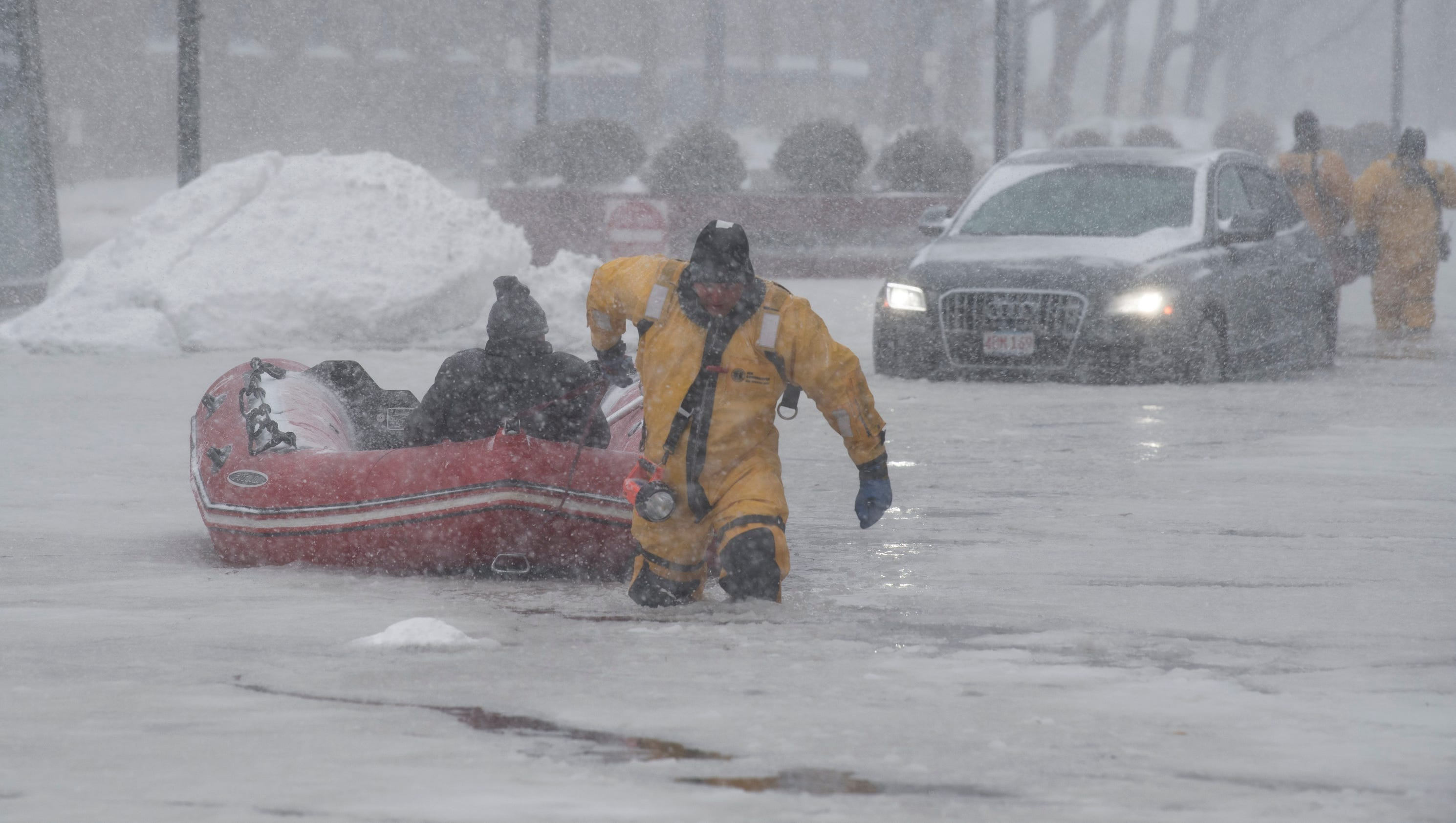 Winter Weather Howling Winds Send High Tide To Near
