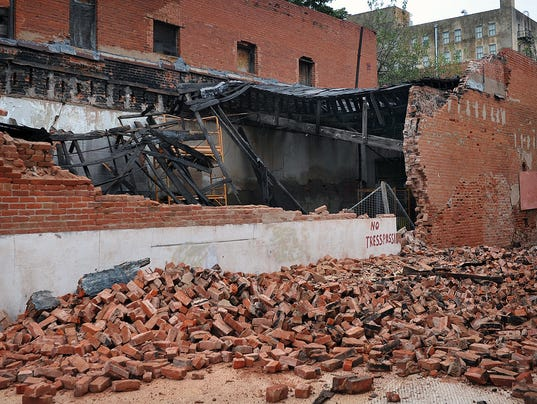 Collapsed Wall 615 7th 2