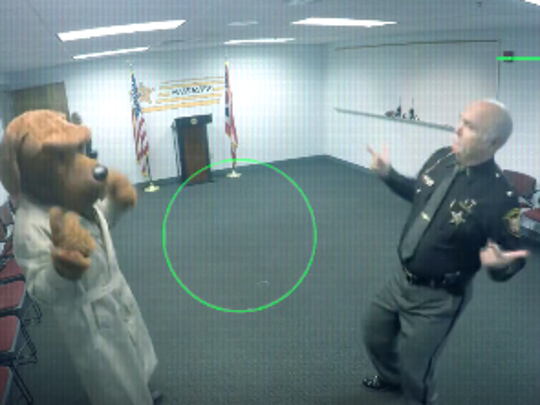 Butler County Sheriff Richard Jones dancing in a video