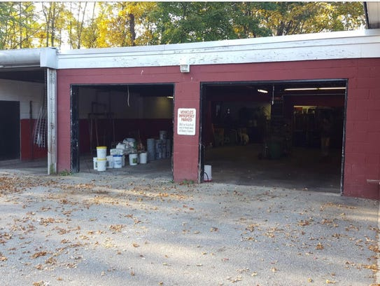School officials said the old maintenance garage at