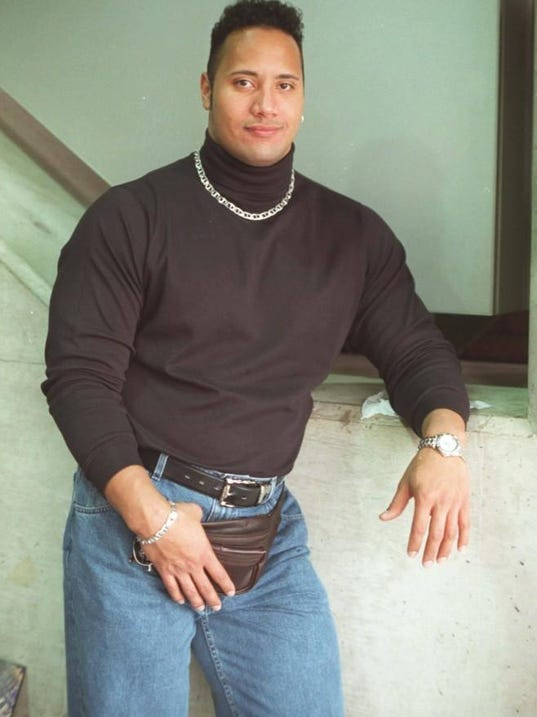 Dwayne The Rock Johnson Shares Awesome 90s Photo