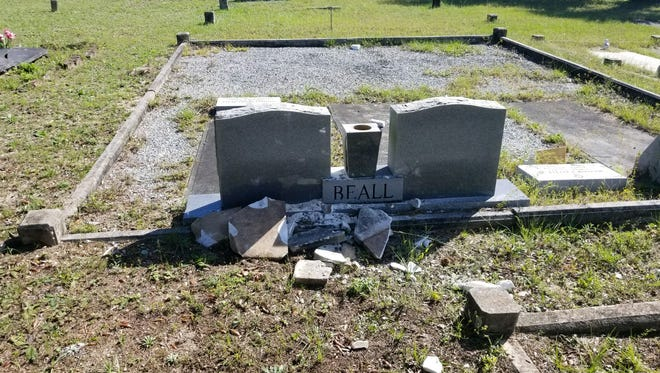 At least 15 gravestones in the Milton Historic Cemetery were destroyed in October 2017.