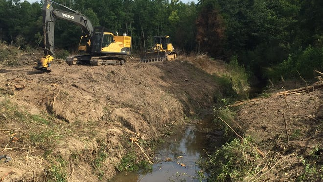 A drainage project on Coulee Ile des Cannes near Scott, Louisiana, should be finished in 2020.