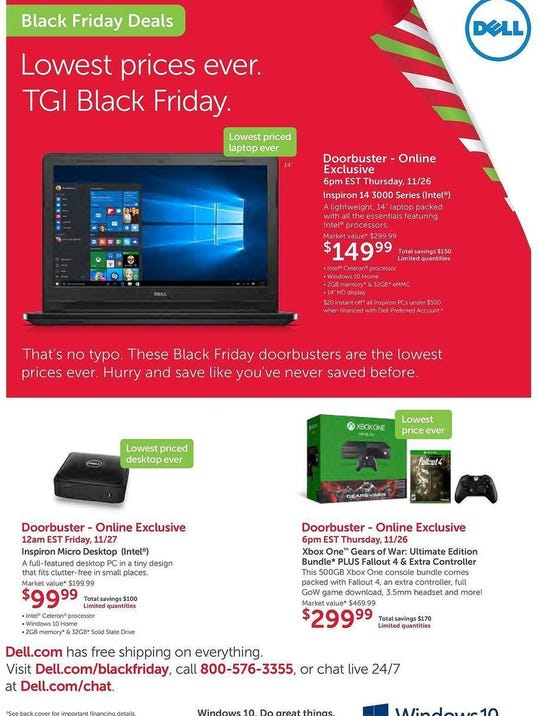 Dell leaked Black Friday ad