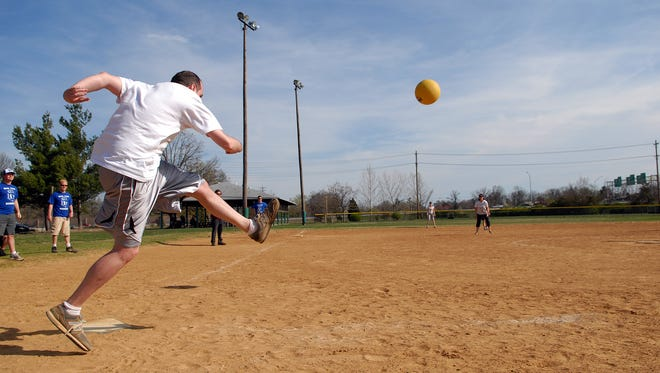 It's not just for kids anymore. Boulders Adult League Kickball is currently looking for teams for its fall games.