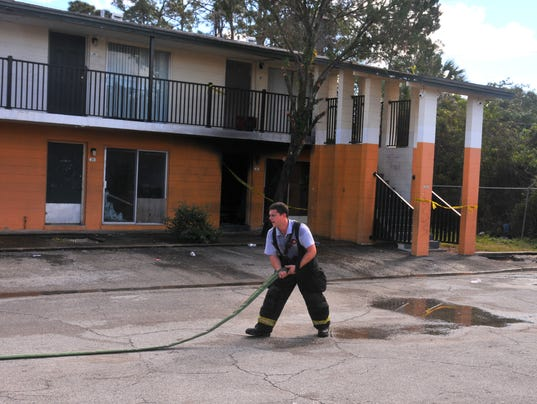 Fire at Village Green Apartments
