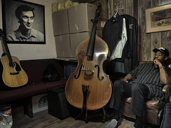 Jerry Lawson waits to perform in his dressing room