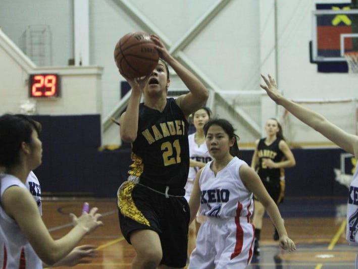 Keio and Nanuet played each other in a girls basketball game at Keio Academy in Purchase Jan. 30, 2014. Nanuet won the game 55-33. ( Frank Becerra Jr / The Journal News )