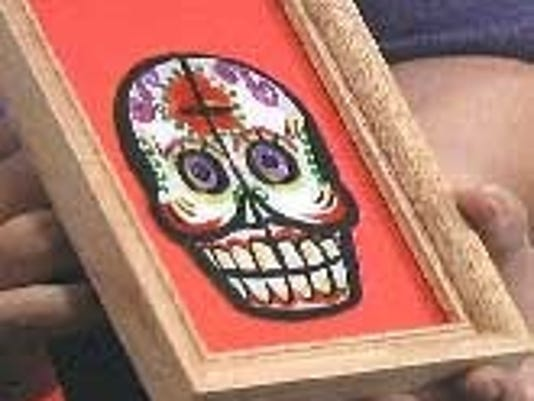 Day of the Dead cheery calaca frames
