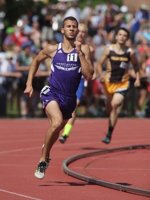 Mount Gilead's Austin Hallabrin wins the Division III 800 during the state track and field meet Saturday at Jesse Owens Memorial Stadium.