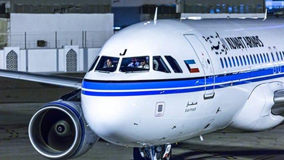 Kuwait Airways is accused of refusing passage to Israelis.