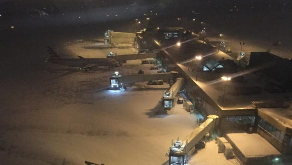 American Airlines gates sit nearly empty in Philadelphia