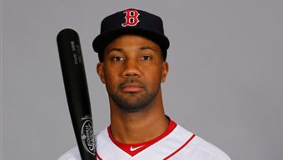 Outfielder Chris Young of the Boston Red Sox.