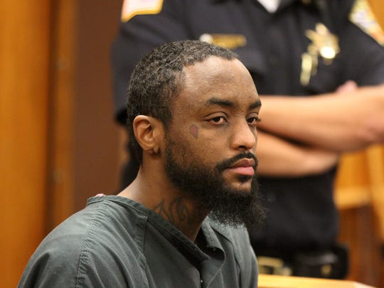 Jamil S. Hubbard, 25, of Sayreville, charged with attempted murder and other offenses in the attack on APP freelance photographer Jerry Wolkowitz, appears for a detention hearing before Judge James J. McGann at Monmouth County Courthouse in Freehold, NJ Thursday July 12, 2018.