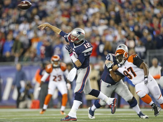 New England Patriots quarterback Tom Brady led a blowout of the Bengals the last time Cincinnati traveled to Foxborough in 2014.